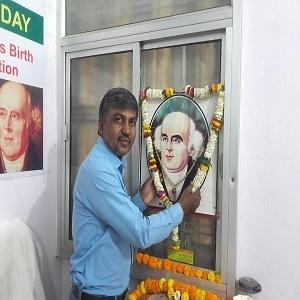 Dr. R.K. Yadav at clinic