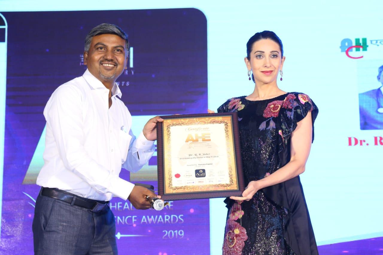 Dr. R.K. Yadav with Karishma Kapoor